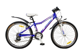 """Велосипед городской подростковый Optimabikes Colibree AM Al 24"""" SKD 2014 синий рама 12"""