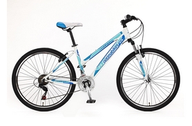 "Велосипед горный Optimabikes F-2 AM Vbr Al 26"" SKD 2015 бело-синий рама - 16"