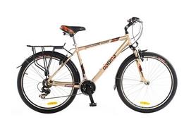 """Велосипед городской Optimabikes Watson HLQ AM Al 26"""" 2014 с багажником серебрянный рама - 21"""