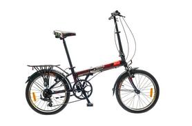 """Велосипед городской Optimabikes Holmes 14G Al 20"""" 2015 с багажником черно-красный рама складная"""