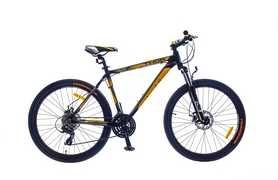 "Велосипед горный SKD Optimabikes Thor AM DD Al 2015 26"" черно-желтый, рама - 19"""