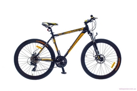 """Велосипед городской SKD Optimabikes Thor AM DD Al 2015 26"""" черно-желтый рама - 17"""