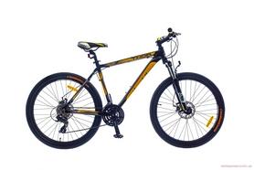 "Велосипед горный SKD Optimabikes Thor AM DD Al 2015 26"" черно-желтый, рама - 17"""