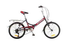 """Велосипед складной Optimabikes Vector St 20"""" 2014 черно-красный, рама - 15"""""""
