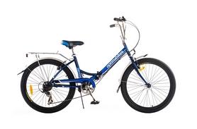 """Велосипед городской складной Optimabikes Veсtor 14G St 24"""" 2015 с багажником синий рама - 16"""
