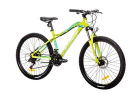 """Велосипед горный Optimabikes Alpina AM 14G DD Al 26"""" 2016 зелено-белый рама - 16"""