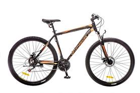 """Велосипед горный Optimabikes Motion AM 14G DD Al 29"""" 2016 черно-оранжевый-серый (м) рама - 20"""