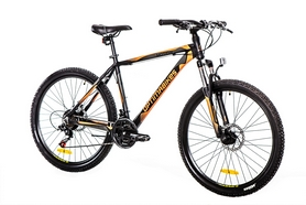 """Велосипед горный Optimabikes Motion AM 14G DD Al 26"""" 2016 черно-оранжевый-серый (м) рама - 20"""