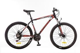 """Велосипед горный Optimabikes Motion AM 14G DD Al 26"""" 2016 черно-красно-белый (м) рама - 20"""