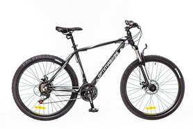 "Велосипед горный Optimabikes Motion AM 14G DD Al 26"" 2016 чёрно-белый-серый (м) рама - 20"
