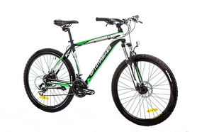 "Велосипед горный Optimabikes F-1 AM 14G DD Al 26"" 2016 черн-бел-зеленый"
