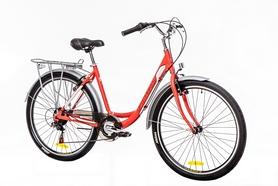 """Велосипед городской Optimabikes Vision 14G Vbr Al 2016 26"""" с багажн. красно-белый"""