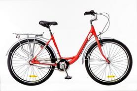 """Велосипед городской Optimabikes Vision 14G планет. Al 2016 26"""" с багажн. красно-белый"""