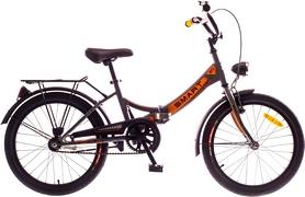 """Велосипед городской Dorozhnik Smart 14G St 20"""" с багажником серый с оранжевым 2016 рама – 13"""""""