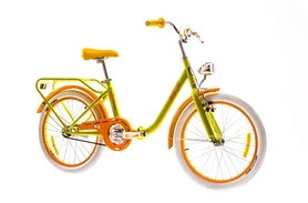 """Велосипед городской Dorozhnik Star 14G St 20""""с багажником желтый 2016 рама – 13"""""""