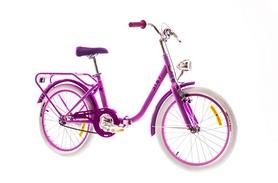 """Велосипед городской Dorozhnik Star 14G St 20""""с багажником лиловый 2016 рама – 13"""""""