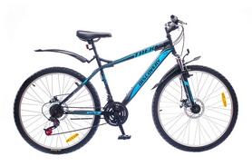 "Велосипед горный Discovery Trek 14G DD St 26"" черно-сине-серый 2016 рама-18"""