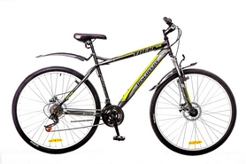 """Велосипед горный Discovery Trek AM 14G DD St 29"""" черно-серо-зеленый 2016 рама – 19"""""""