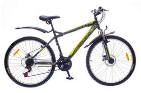 """Велосипед горный Discovery Trek AM 14G DD St 26"""" черно-серо-зеленый 2016 рама – 15"""""""