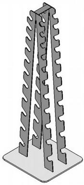 Стойка для гантелей хромированных BruStyle TC-134