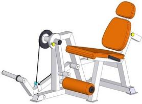 Фото 2 к товару Тренажер для мышц разгибателей бедра, сидя BruStyle TC-309