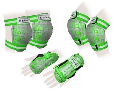 Защита для катания детская (комплект) Zel SK-4678G Candy зеленая