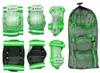 Защита спортивная детская Zel SK-4678G Candy (наколенники, налокотники, перчатки) зеленая - фото 2