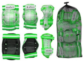 Фото 2 к товару Защита спортивная детская Zel SK-4678G Candy (наколенники, налокотники, перчатки) зеленая
