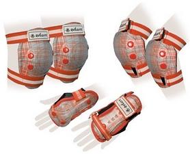 Защита спортивная детская Zel SK-4678OR Candy (наколенники, налокотники, перчатки) оранж