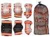 Защита спортивная детская Zel SK-4678OR Candy (наколенники, налокотники, перчатки) оранж - фото 2
