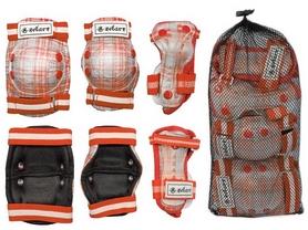 Фото 2 к товару Защита спортивная детская Zel SK-4678OR Candy (наколенники, налокотники, перчатки) оранж