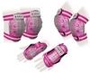 Защита спортивная детская Zel SK-4678P Candy (наколенники, налокотники, перчатки) розовая - фото 1
