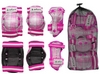 Защита спортивная детская Zel SK-4678P Candy (наколенники, налокотники, перчатки) розовая - фото 2