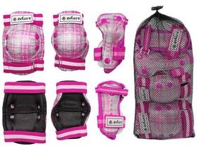 Фото 2 к товару Защита спортивная детская Zel SK-4678P Candy (наколенники, налокотники, перчатки) розовая