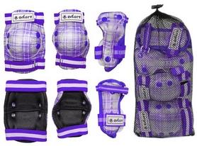 Фото 2 к товару Защита спортивная детская Zel SK-4678V Candy (наколенники, налокотники, перчатки) фиолетовая
