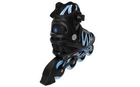 Фото 3 к товару Коньки роликовые ZEL Z-905B-42 Metropolis черный с синим