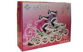 Фото 3 к товару Коньки роликовые раздвижные ZEL Z-805P Grace бело-розовые