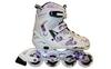 Коньки роликовые раздвижные ZEL Z-805W Grace бело-фиолет - фото 1