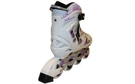 Фото 2 к товару Коньки роликовые раздвижные ZEL Z-805W Grace бело-фиолет