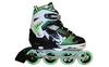 Коньки роликовые раздвижные ZEL Z-809G зеленые - фото 1