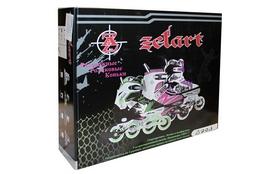 Фото 3 к товару Коньки роликовые раздвижные ZEL Z-809P розовый