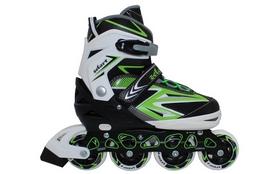 Коньки роликовые раздвижные ZEL Z-9004G Element зеленый