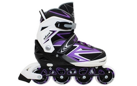 Роликовые коньки раздвижные ZEL Z-9004V Element фиолетовый
