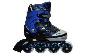 Коньки роликовые раздвижные ZEL Z-9001B Foliage синие