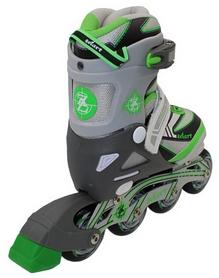 Фото 3 к товару Коньки роликовые раздвижные ZEL Z-5104GRG Candy серо-зеленые