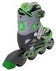 Коньки роликовые раздвижные ZEL Z-5104GRG Candy серо-зеленые - фото 3