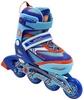 Коньки роликовые раздвижные ZEL Z-5104BO Candy сине-оранжевые - фото 1