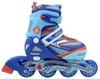 Коньки роликовые раздвижные ZEL Z-5104BO Candy сине-оранжевые - фото 2