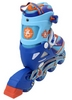 Коньки роликовые раздвижные ZEL Z-5104BO Candy сине-оранжевые - фото 3