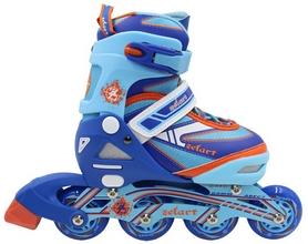 Фото 2 к товару Коньки роликовые раздвижные ZEL Z-5104BO Candy сине-оранжевые
